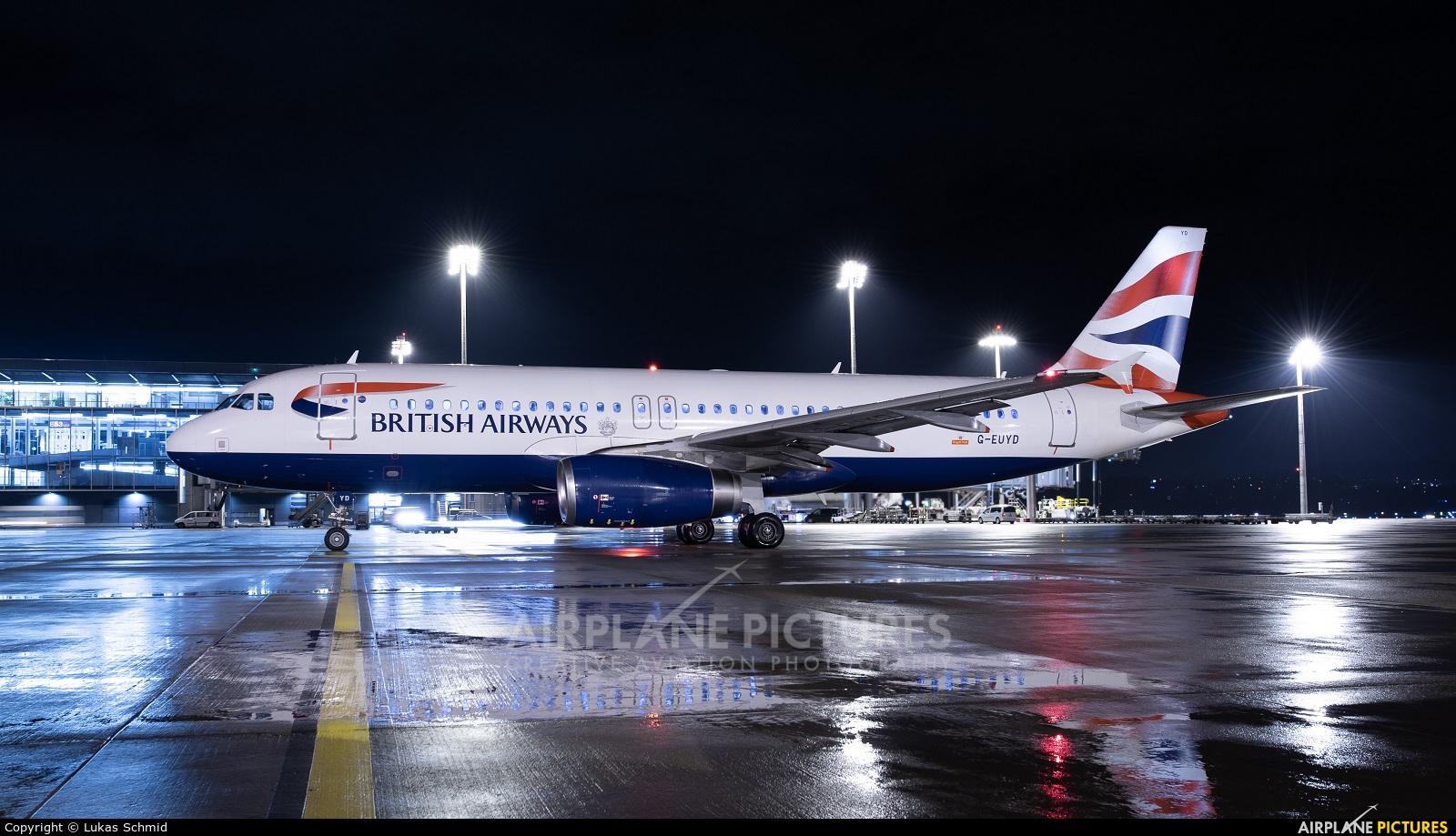 British Airways G-EUYD aircraft at Zurich