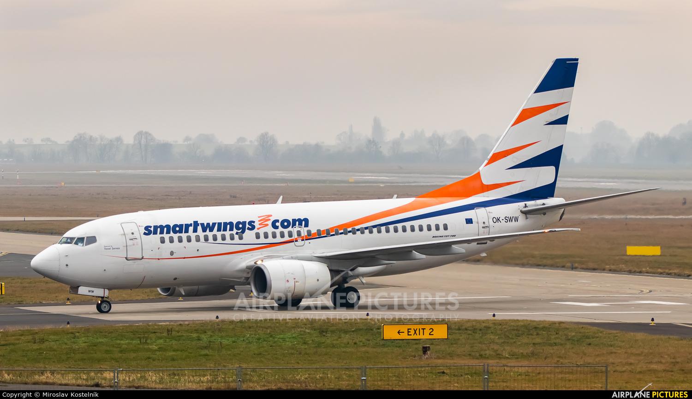 SmartWings OK-SWW aircraft at Ostrava Mošnov