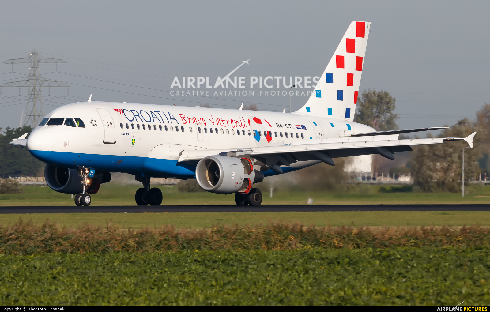 Croatia Airlines 9A-CTL aircraft at Amsterdam - Schiphol
