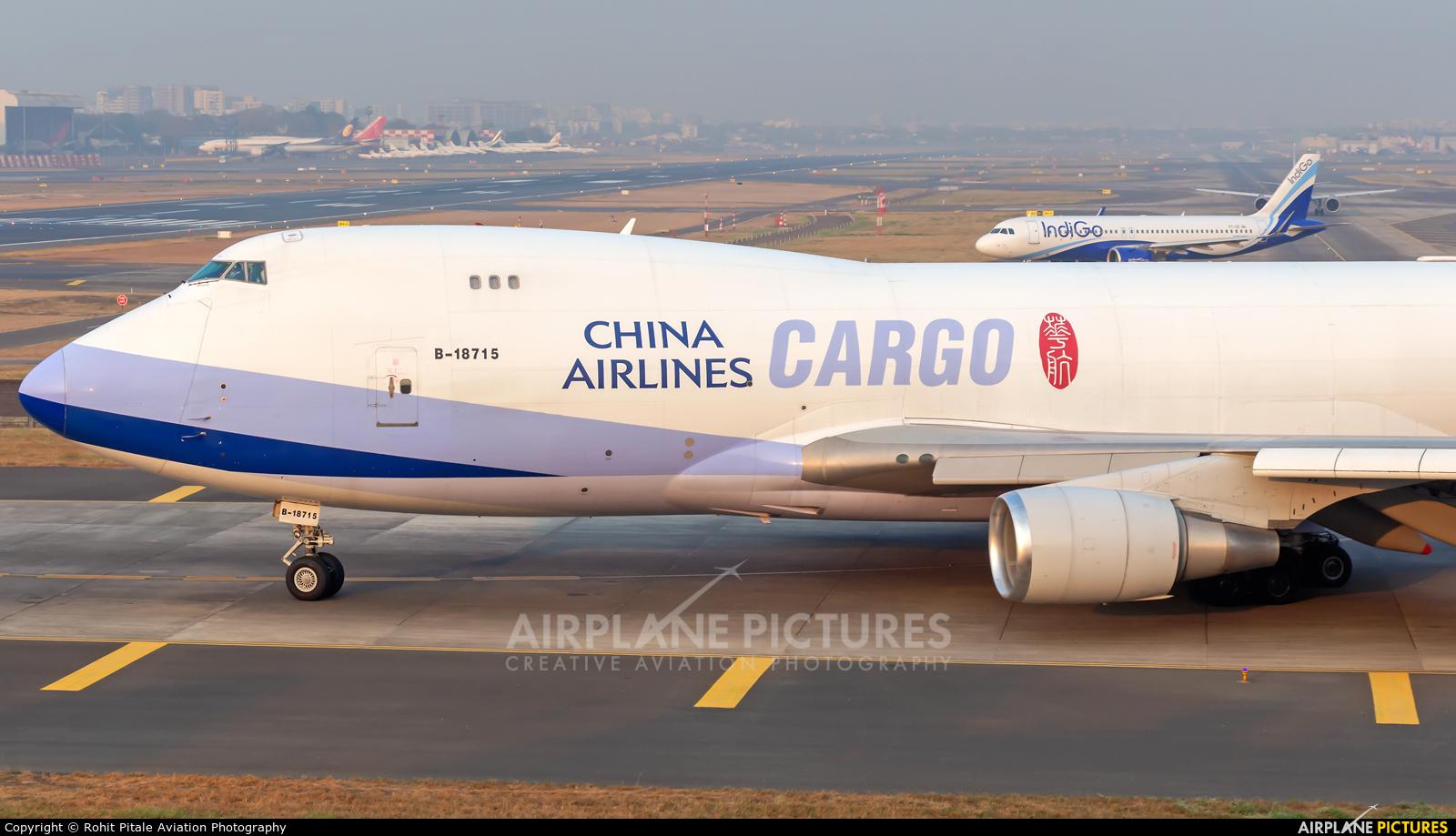 China Airlines Cargo B-18715 aircraft at Mumbai - Chhatrapati Shivaji Intl