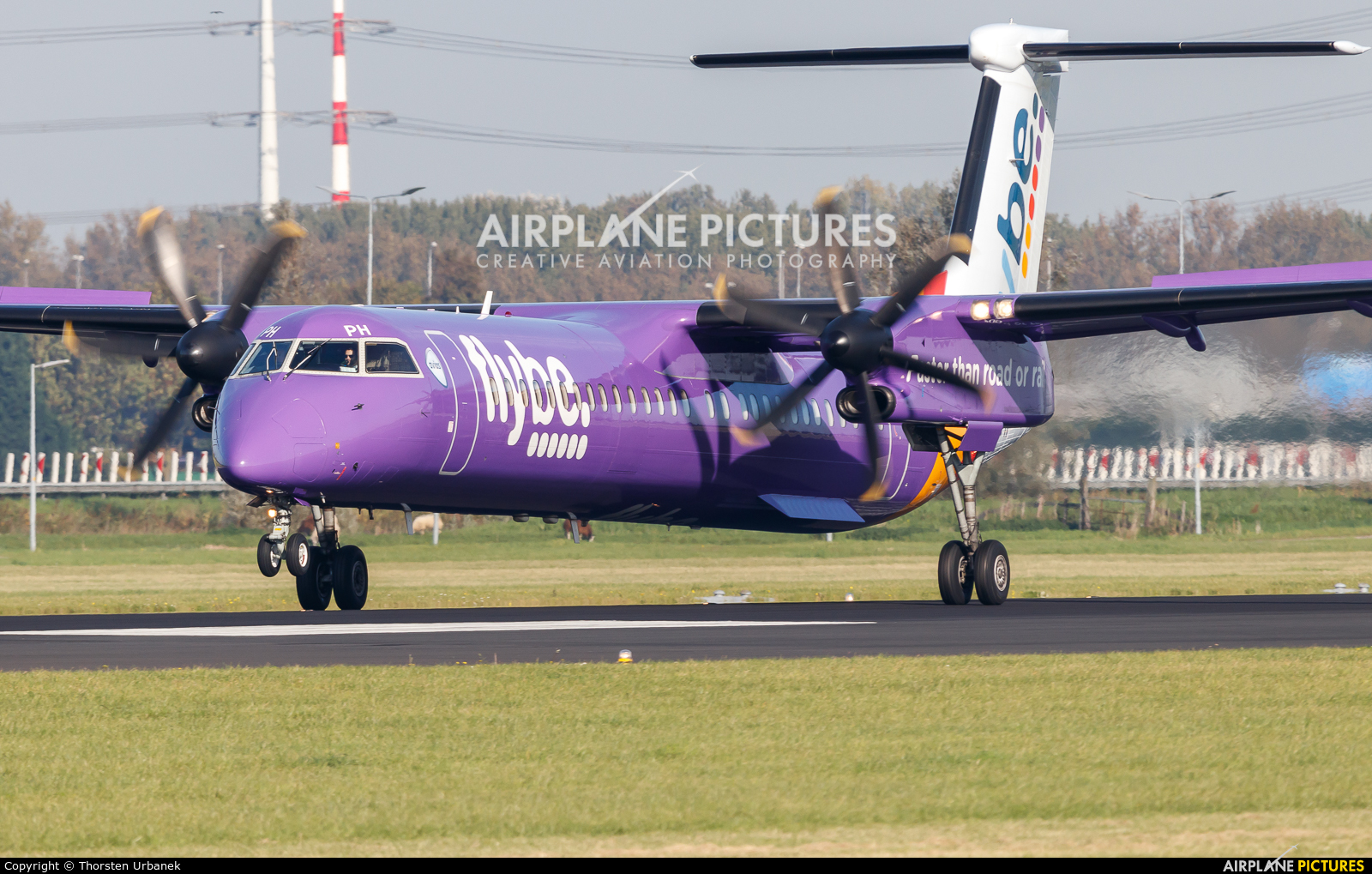 Flybe G-PRPH aircraft at Amsterdam - Schiphol