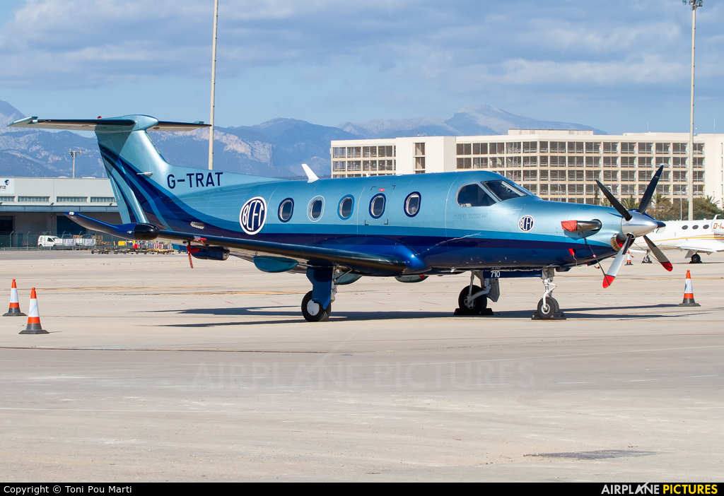 Private G-TRAT aircraft at Palma de Mallorca