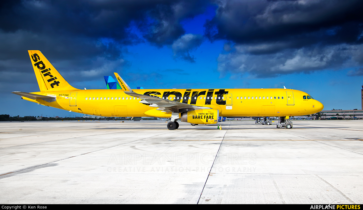 Spirit Airlines N673NK aircraft at Fort Lauderdale - Hollywood Intl