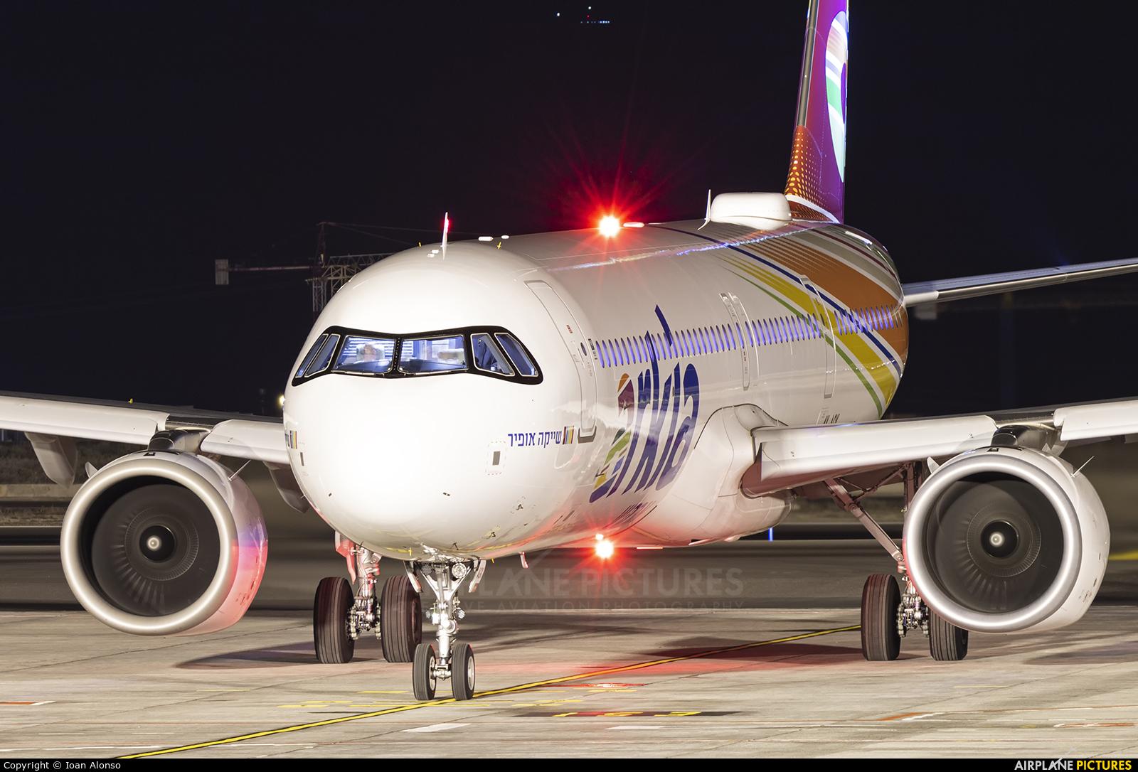Arkia 4X-AGK aircraft at Tenerife Sur - Reina Sofia