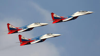 "RF-91945 - Russia - Air Force ""Strizhi"" Mikoyan-Gurevich MiG-29UB"