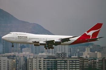 VH-EBQ - QANTAS Boeing 747-200