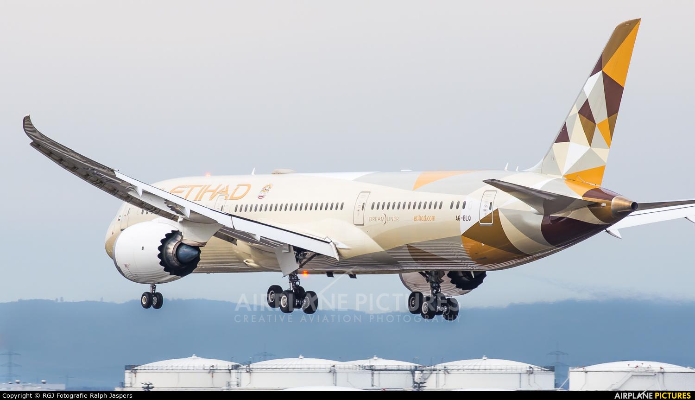 Etihad Airways A6-BLQ aircraft at Frankfurt