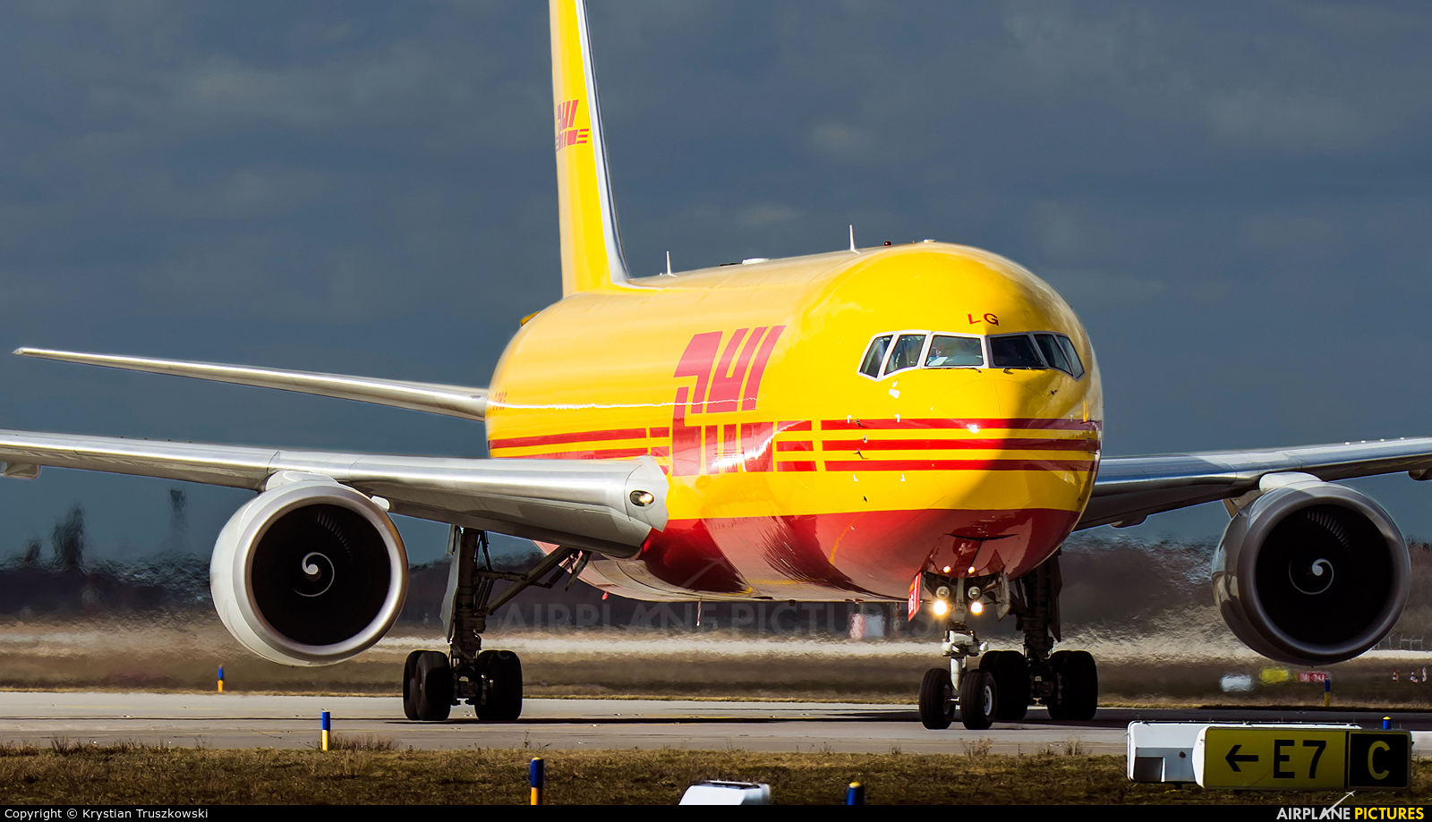 DHL Cargo G-DHLG aircraft at Leipzig - Halle