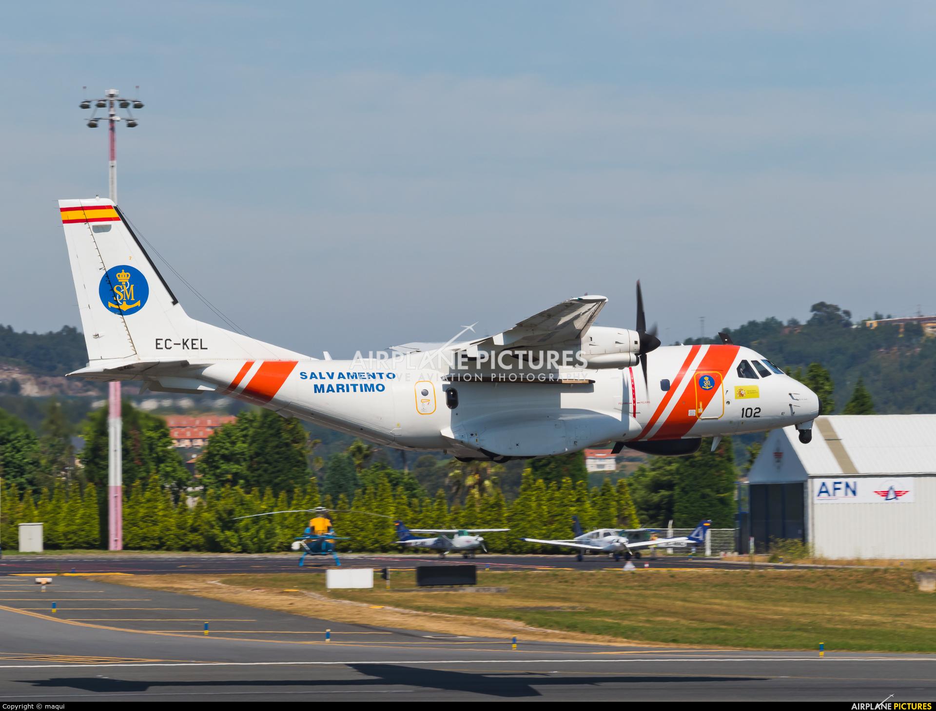 Spain - Coast Guard EC-KEL aircraft at La Coruña