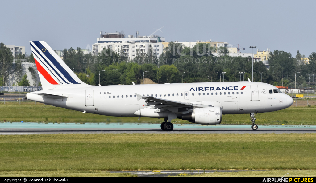 Air France F-GRXC aircraft at Warsaw - Frederic Chopin