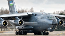 New livery of Uzbekistan Air Force Il-76  title=