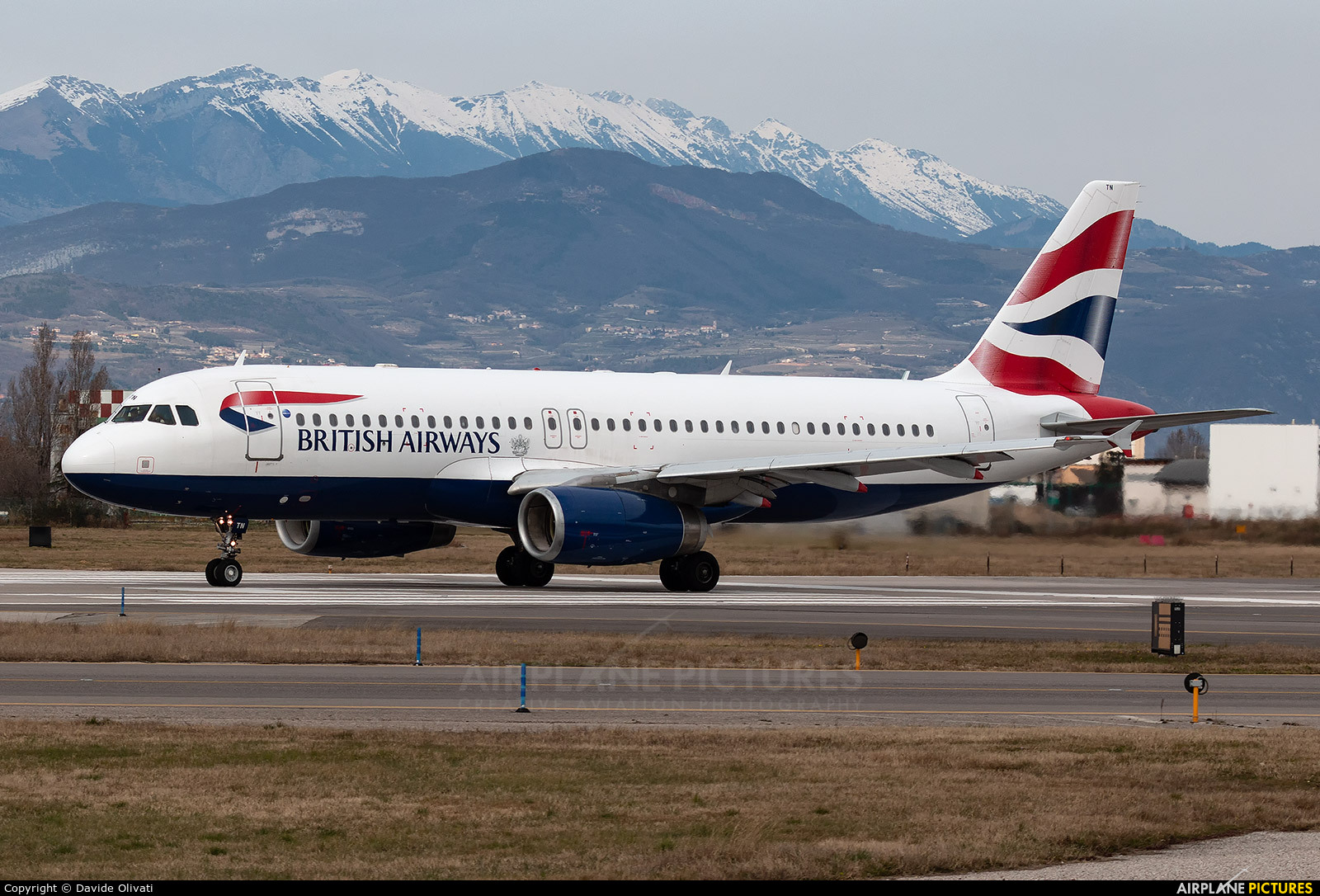 British Airways G-GATN aircraft at Verona - Villafranca