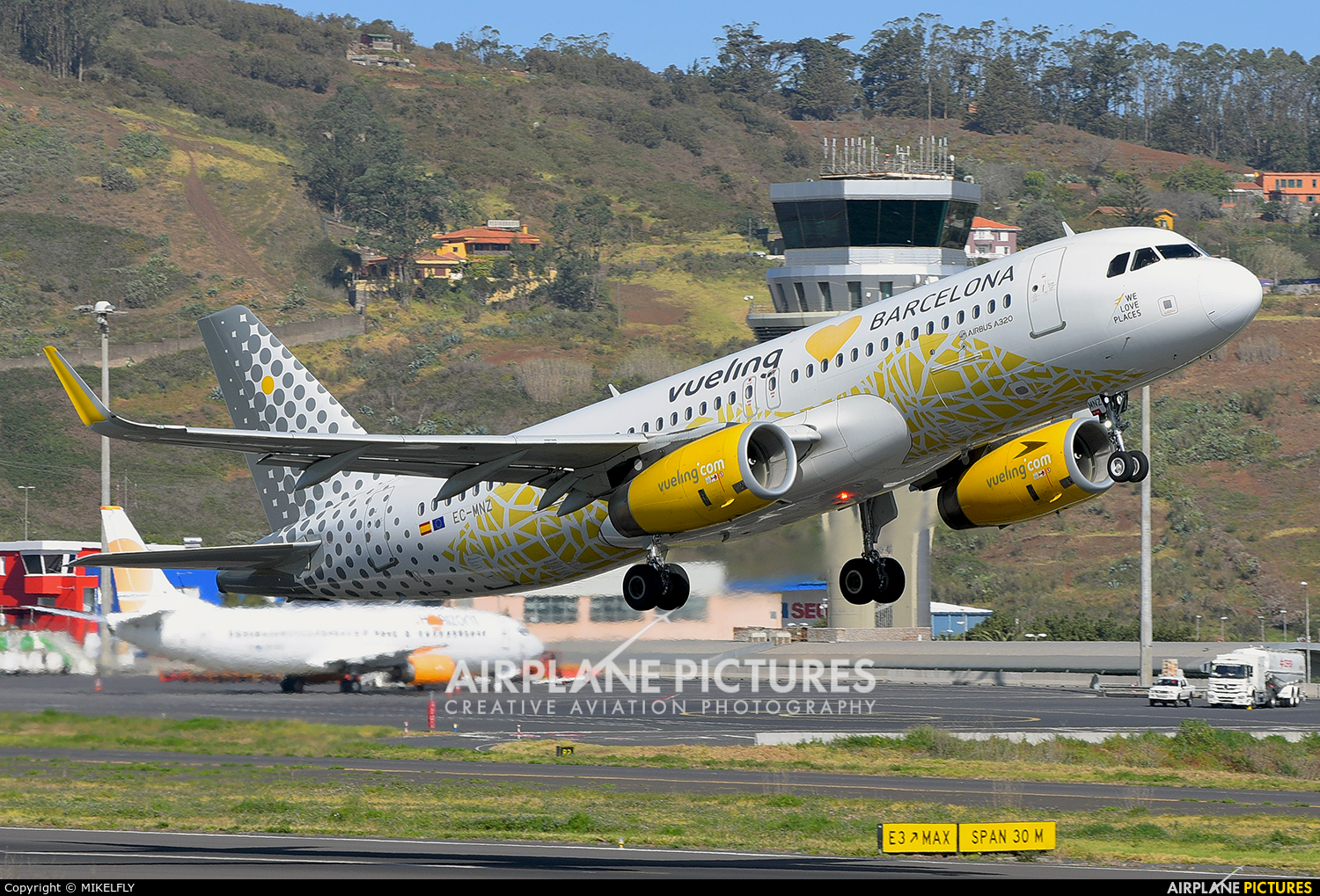 Vueling Airlines EC-MNZ aircraft at Tenerife Norte - Los Rodeos