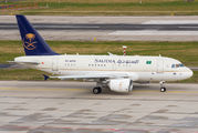Saudi Arabia Royal Flight Airbus A318 at Zurich Airport title=