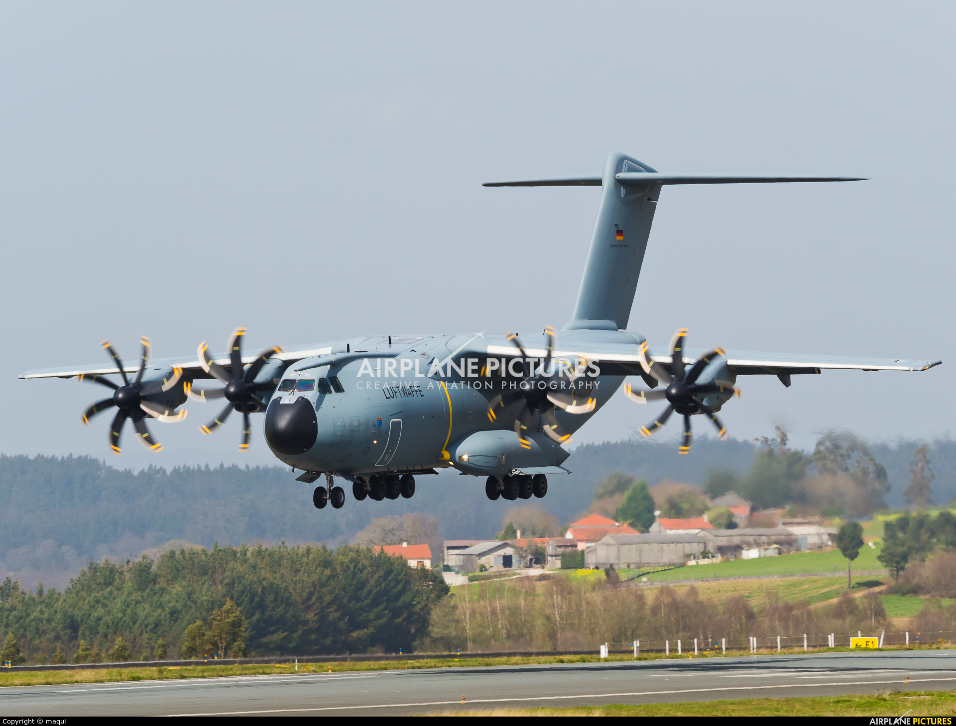 Germany - Air Force 54+25 aircraft at Santiago de Compostela