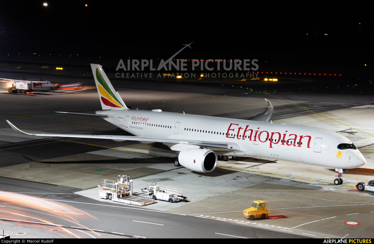 Ethiopian Airlines ET-AVD aircraft at Vienna - Schwechat