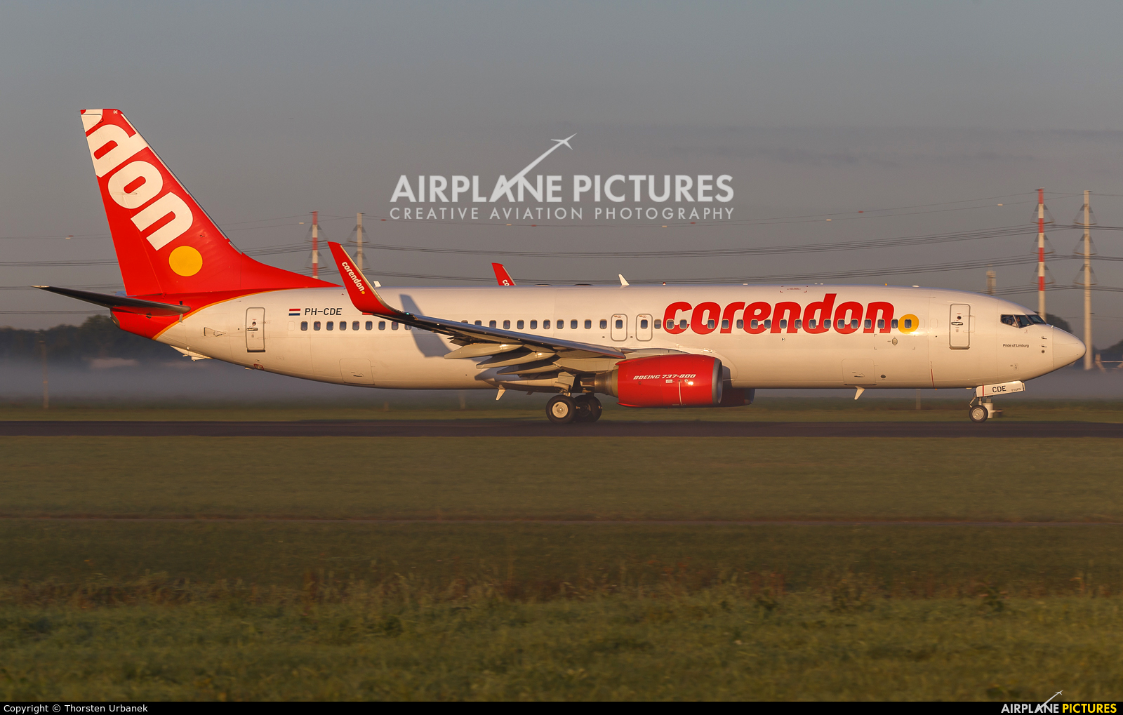 Corendon Dutch Airlines PH-CDE aircraft at Amsterdam - Schiphol
