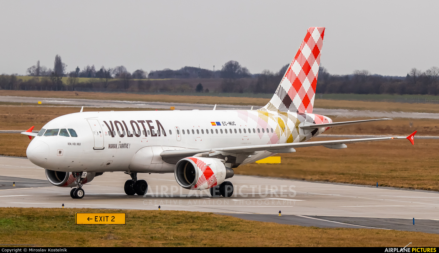 Volotea Airlines EC-MUC aircraft at Ostrava Mošnov