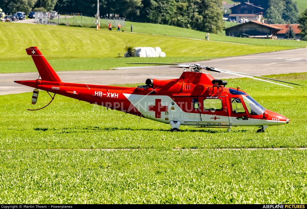 REGA Swiss Air Ambulance  HB-XWH aircraft at St. Stephan