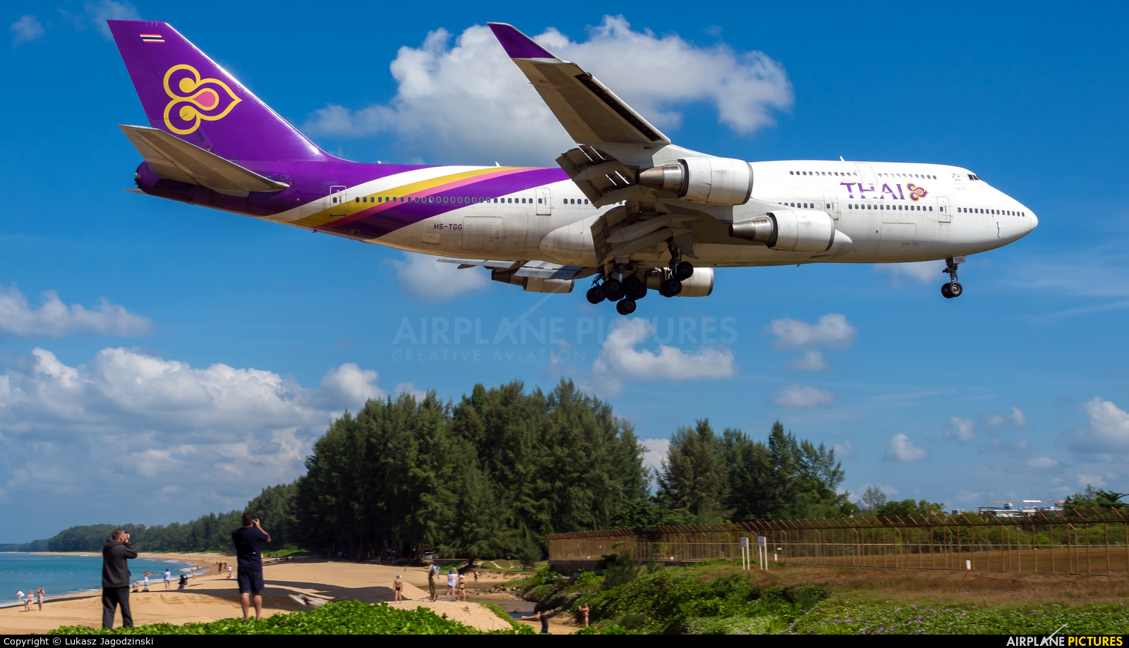 Thai Airways HS-TGG aircraft at Phuket