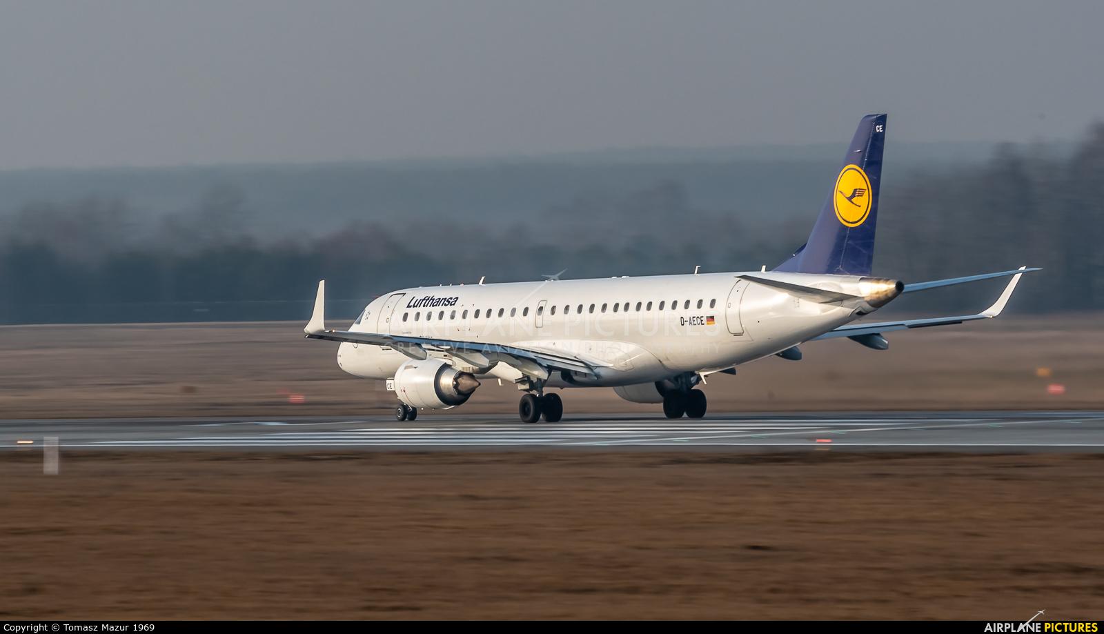 Lufthansa Regional - CityLine D-AECE aircraft at Katowice - Pyrzowice