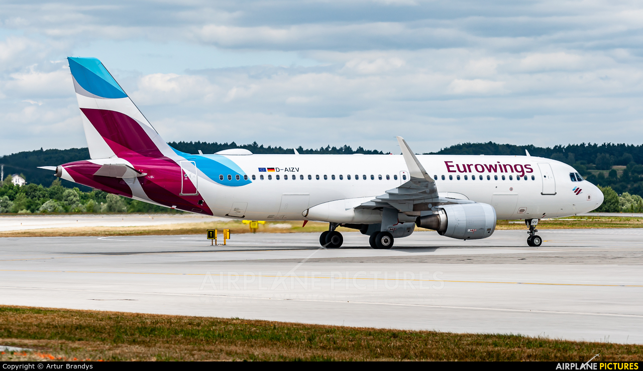 Eurowings D-AIZV aircraft at Kraków - John Paul II Intl