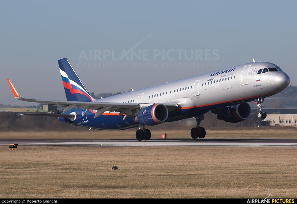 Aeroflot VP-BAV aircraft at Verona - Villafranca