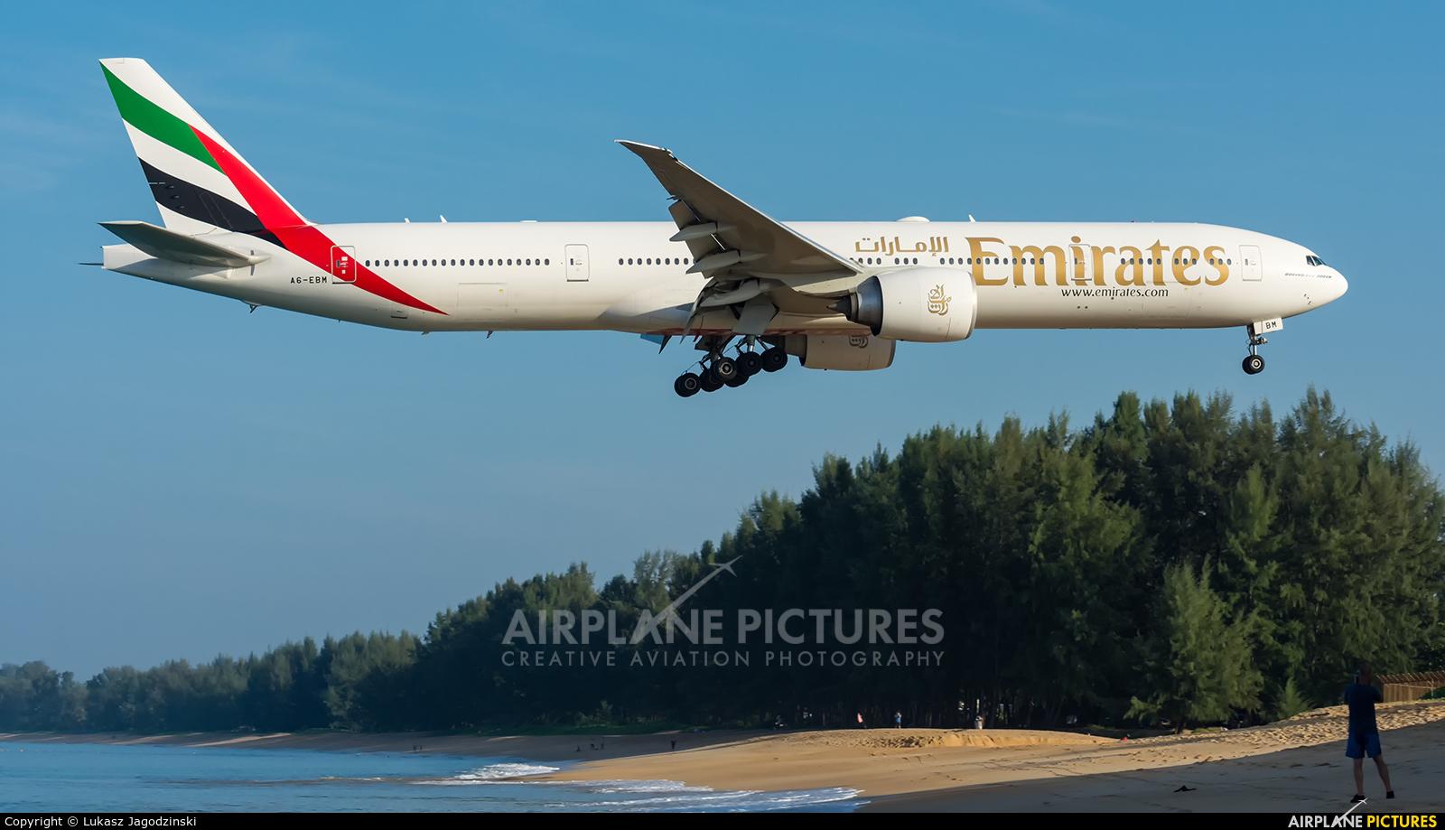 Emirates Airlines A6-EBM aircraft at Phuket