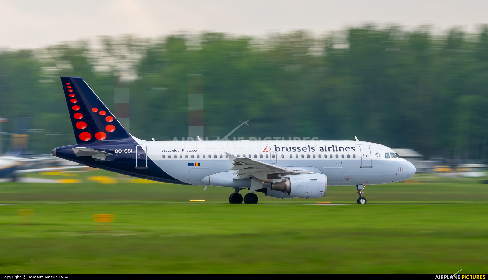 Brussels Airlines OO-SSL aircraft at Kraków - John Paul II Intl