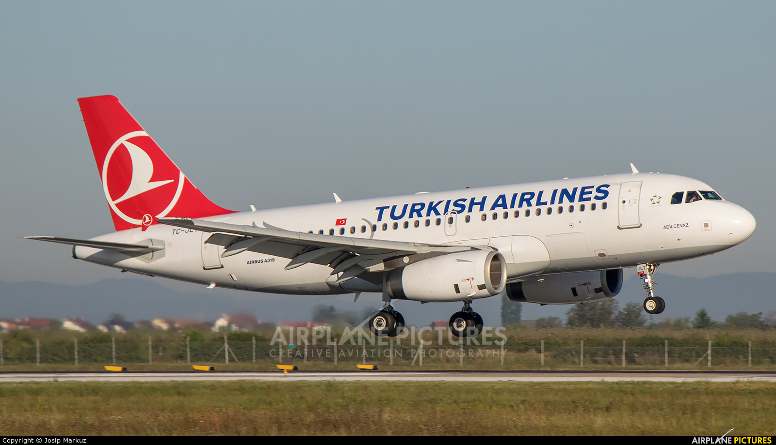 Turkish Airlines TC-JLT aircraft at Zagreb