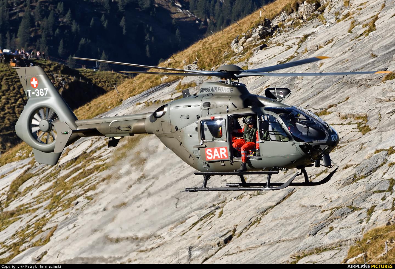 Switzerland - Air Force T-367 aircraft at Ebenfluhe Range, Axalp