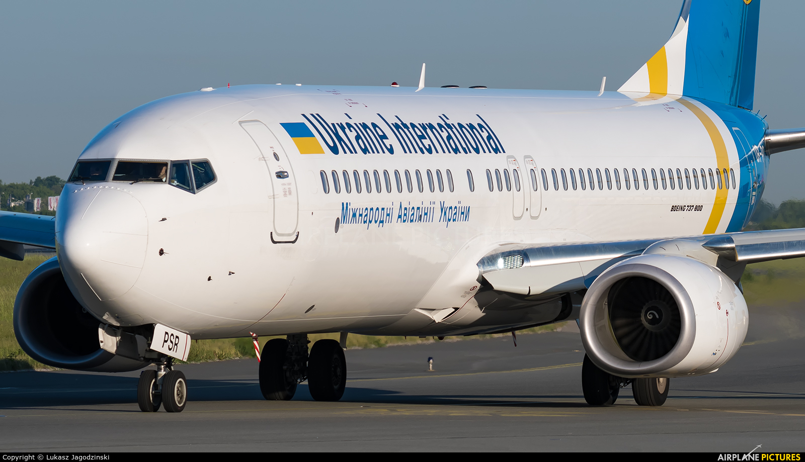 Ukraine National Airlines UR-PSR aircraft at Warsaw - Frederic Chopin