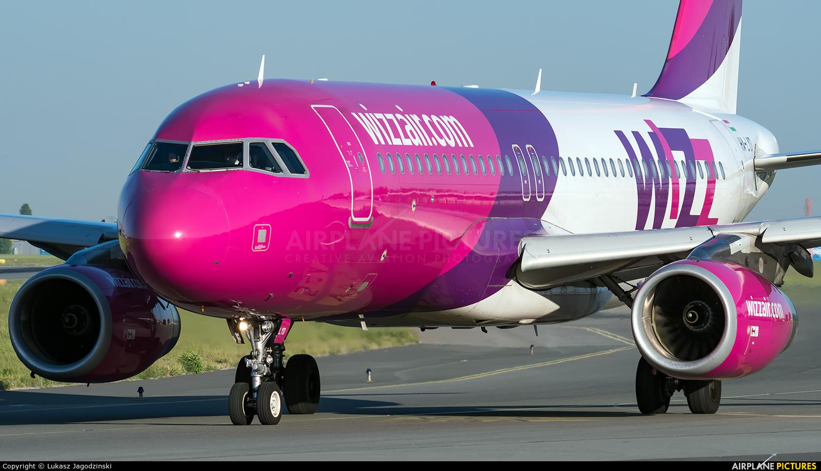 Wizz Air HA-LYD aircraft at Warsaw - Frederic Chopin