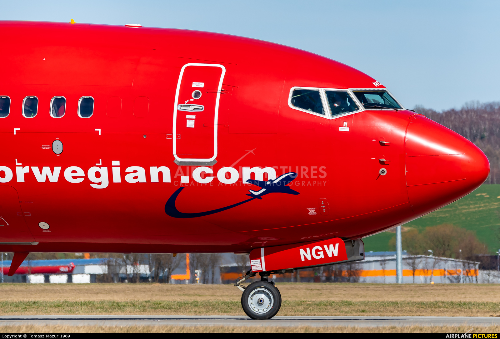 Norwegian Air Shuttle LN-NGW aircraft at Kraków - John Paul II Intl