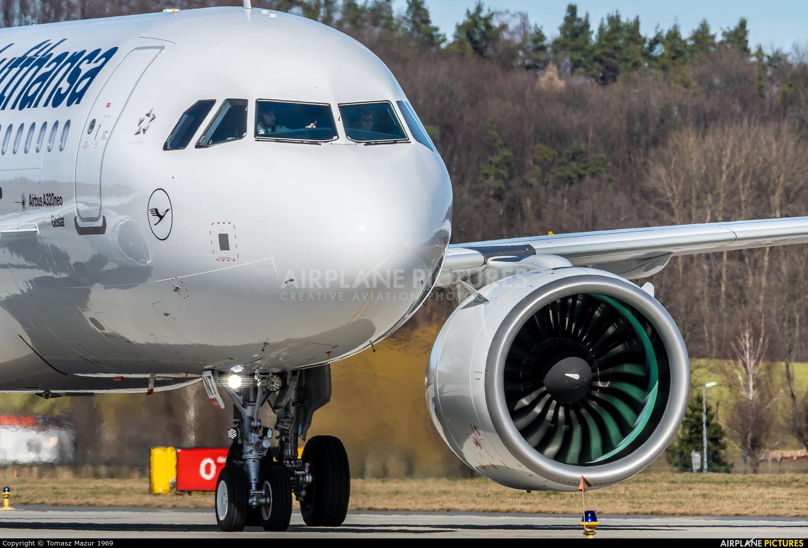Lufthansa D-AINT aircraft at Kraków - John Paul II Intl