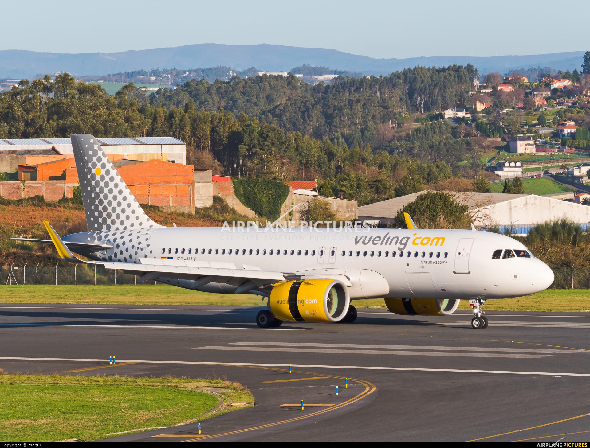 Vueling Airlines EC-NAX aircraft at La Coruña