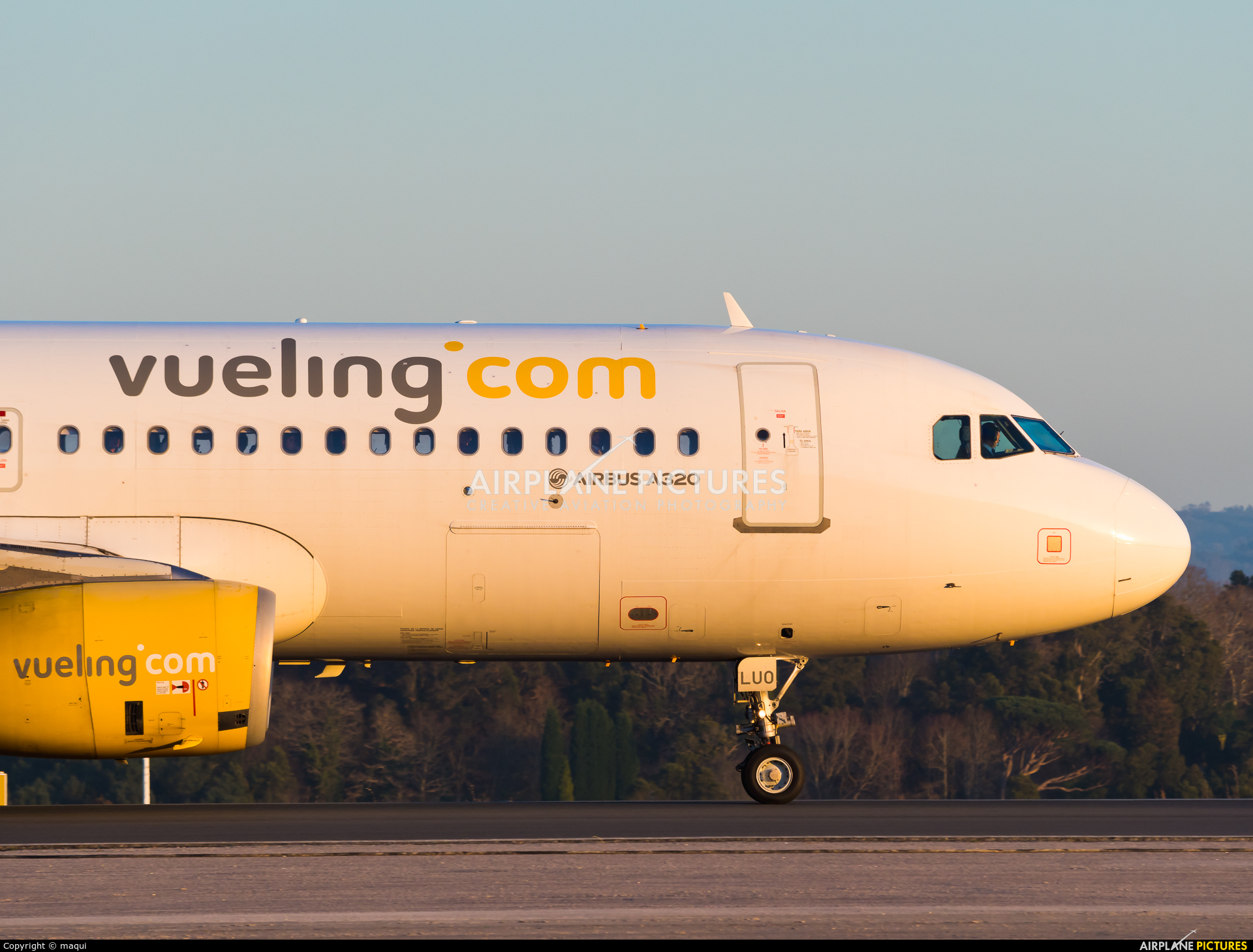 Vueling Airlines EC-LUO aircraft at La Coruña