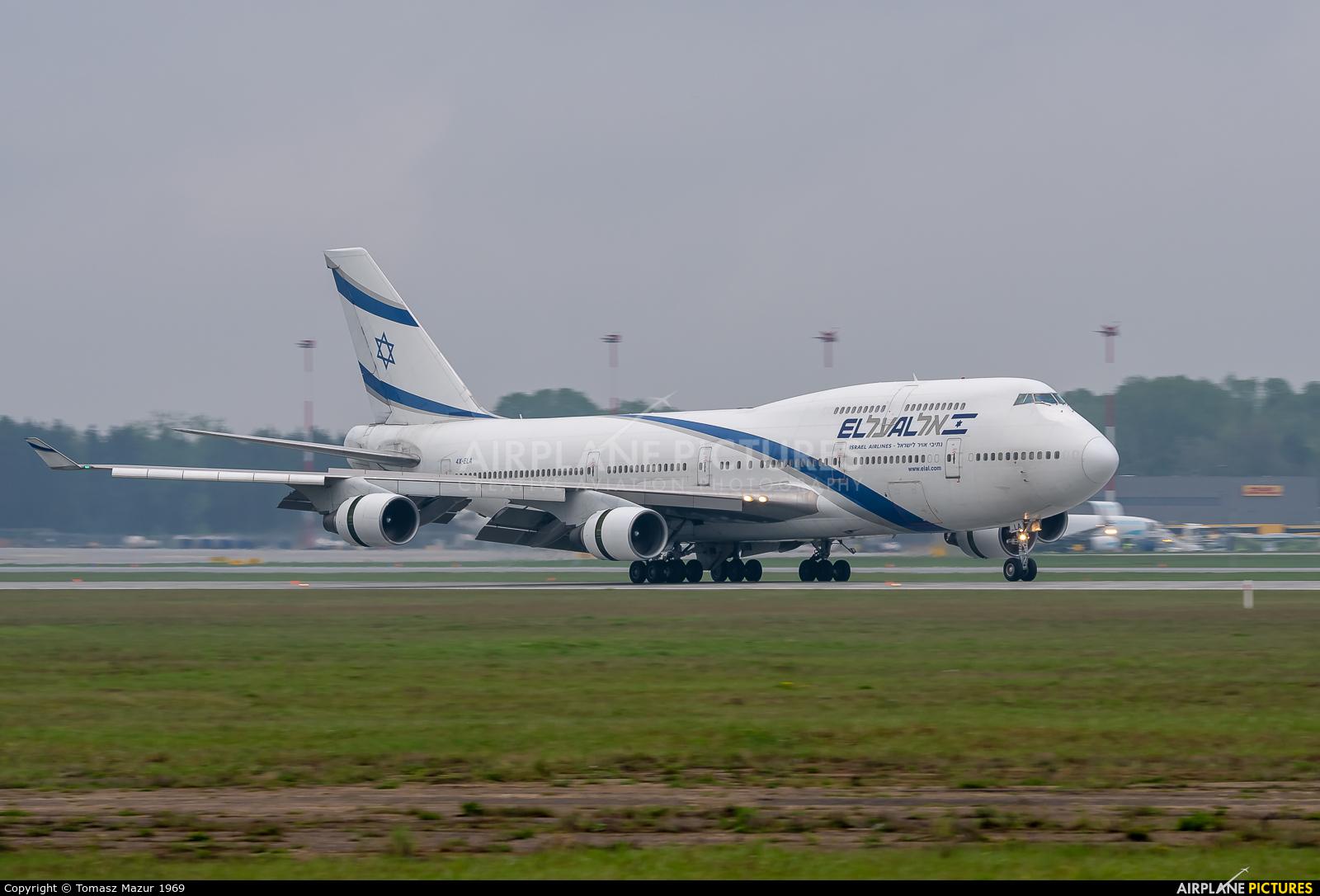 El Al Israel Airlines 4X-ELA aircraft at Katowice - Pyrzowice