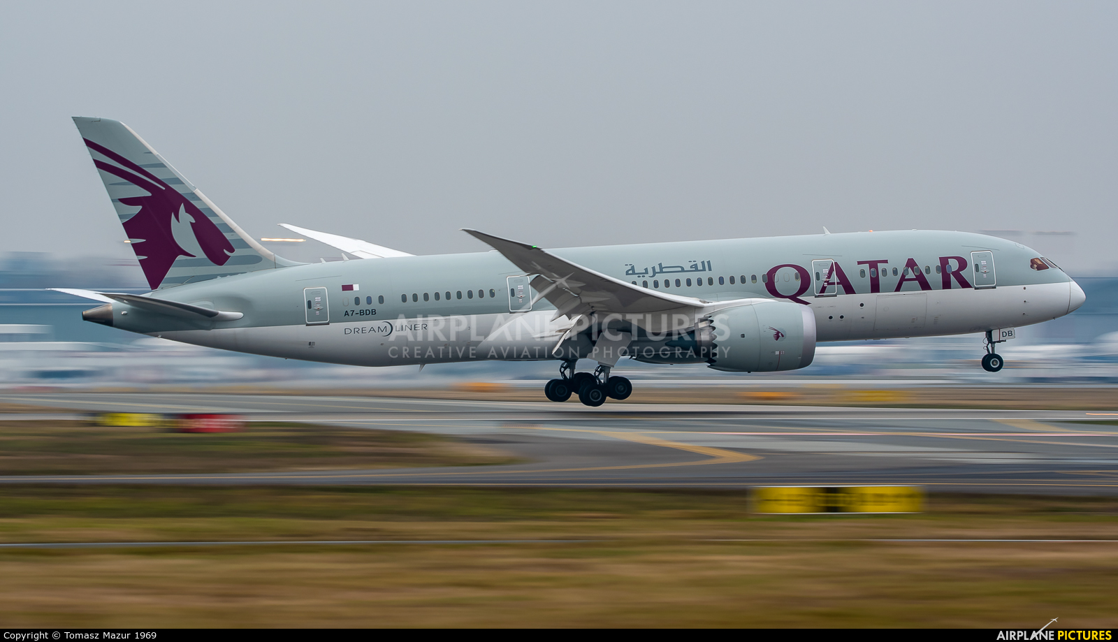 Qatar Airways A7-BDB aircraft at Warsaw - Frederic Chopin