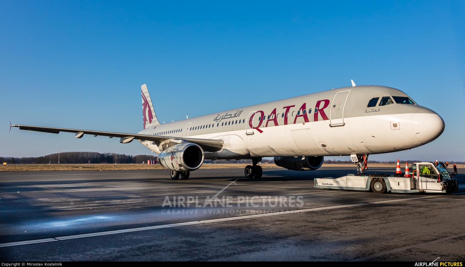 Qatar Airways A7-ADS aircraft at Ostrava Mošnov