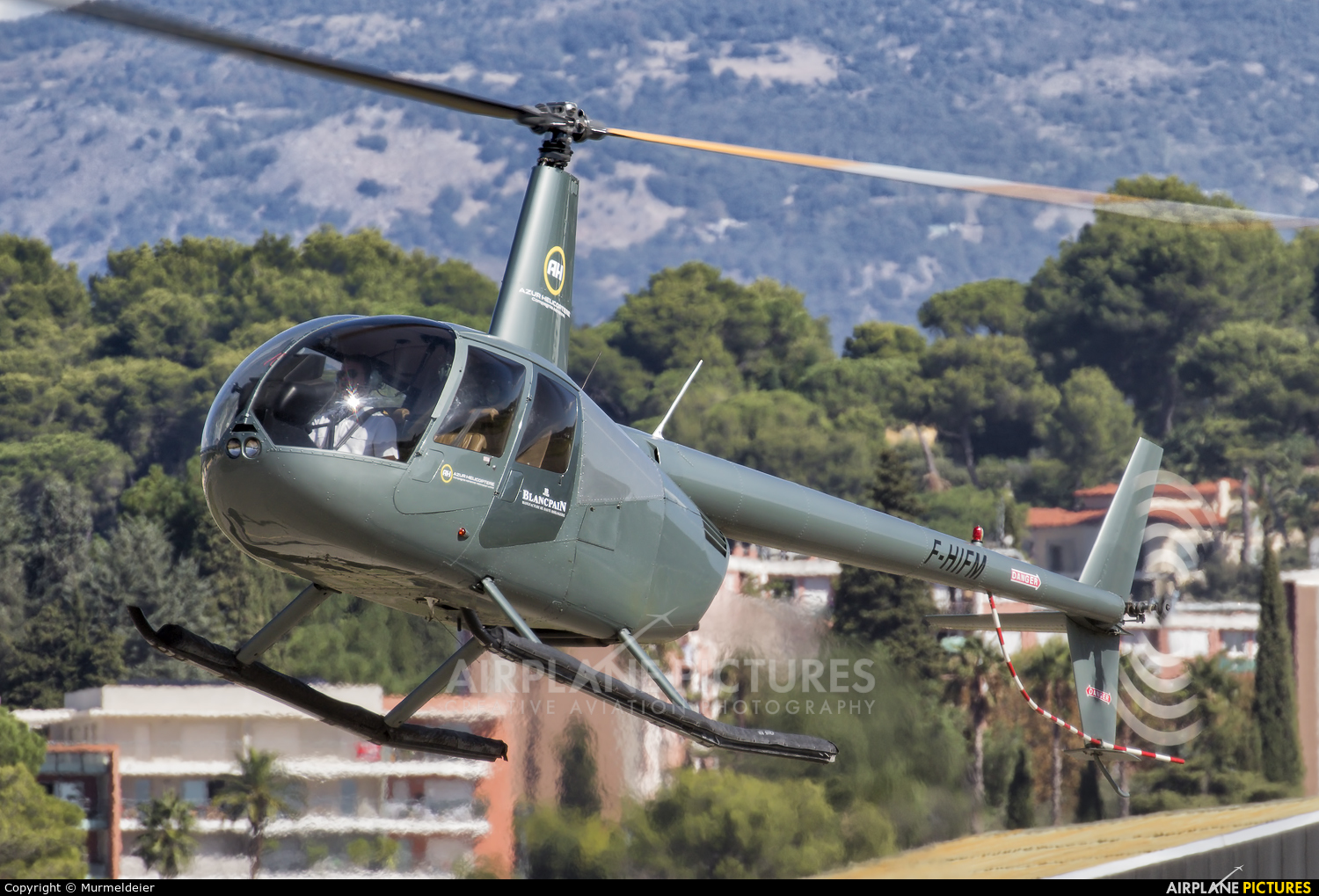 Azur Helicoptere F-HIFM aircraft at Cannes - Mandelieu