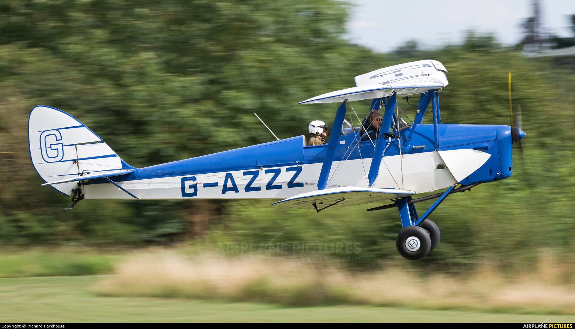 Private G-AZZZ aircraft at Old Warden