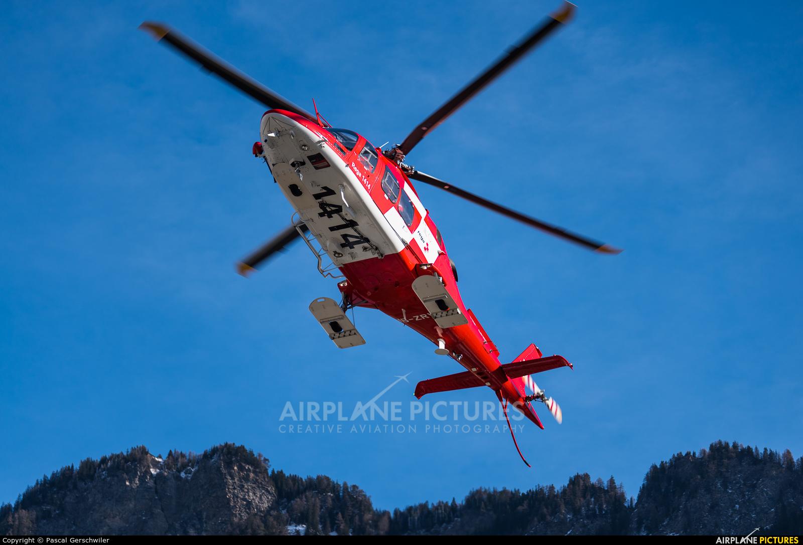 REGA Swiss Air Ambulance  HB-ZRW aircraft at Off Airport - Switzerland