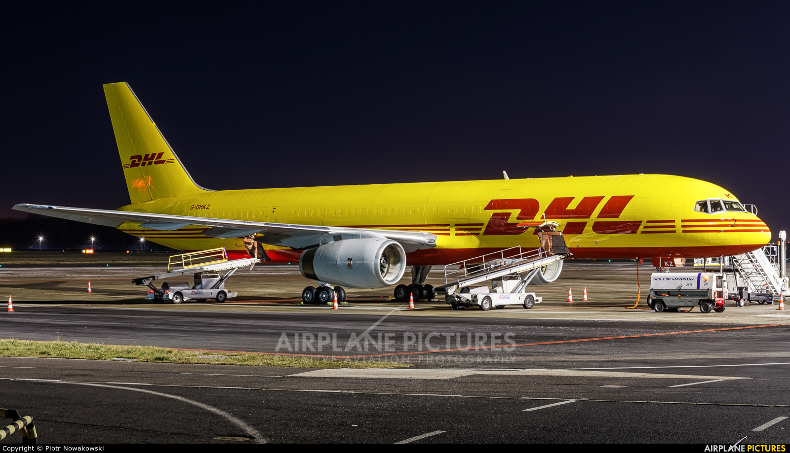 DHL Cargo G-DHKZ aircraft at Warsaw - Frederic Chopin