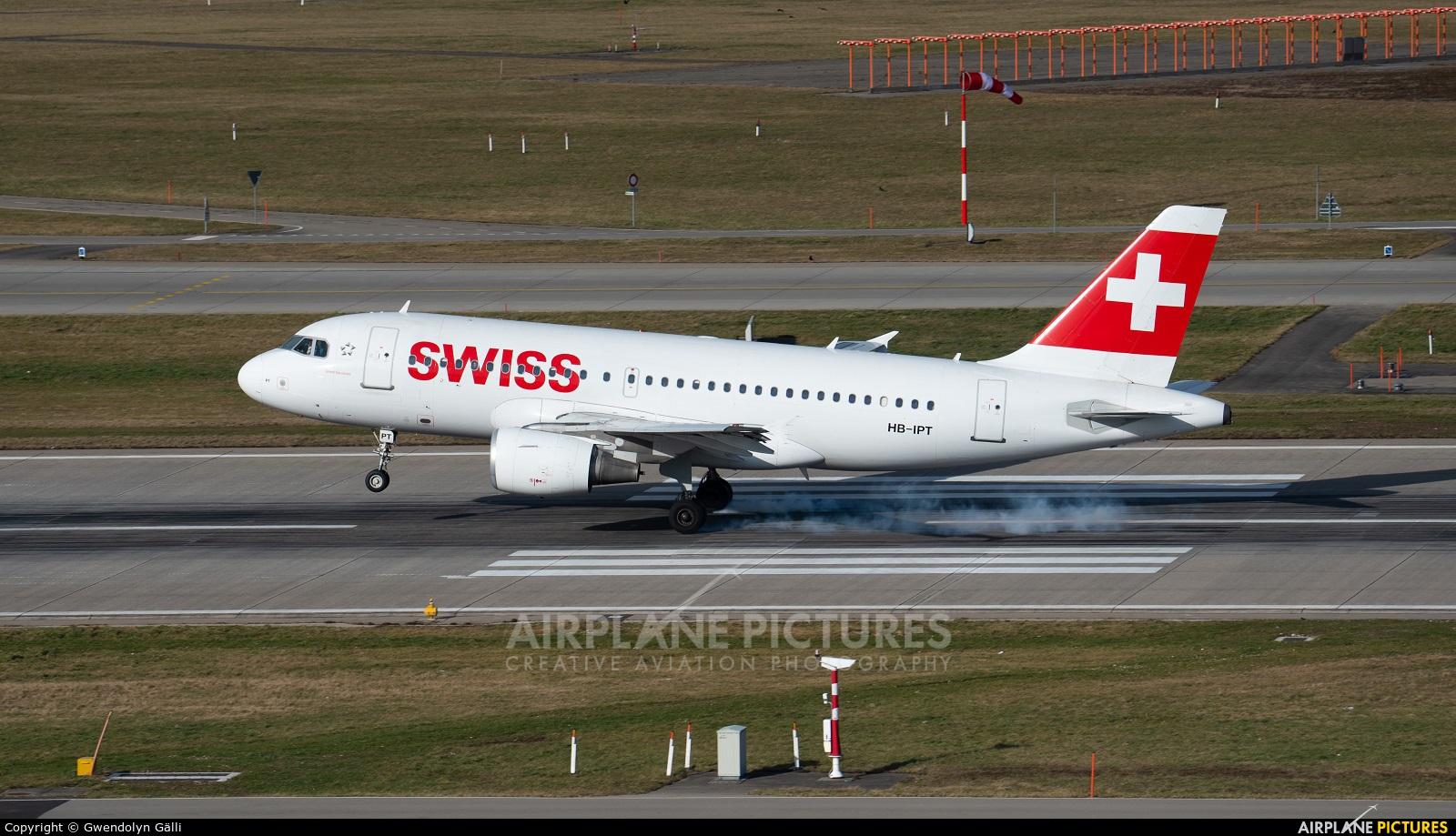 Swiss HB-IPT aircraft at Zurich