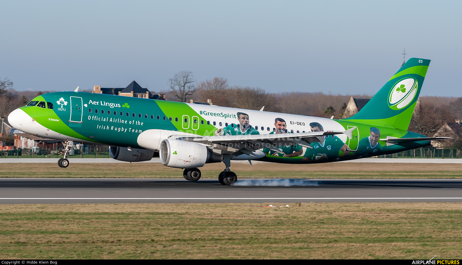 Aer Lingus EI-DEO aircraft at Brussels - Zaventem