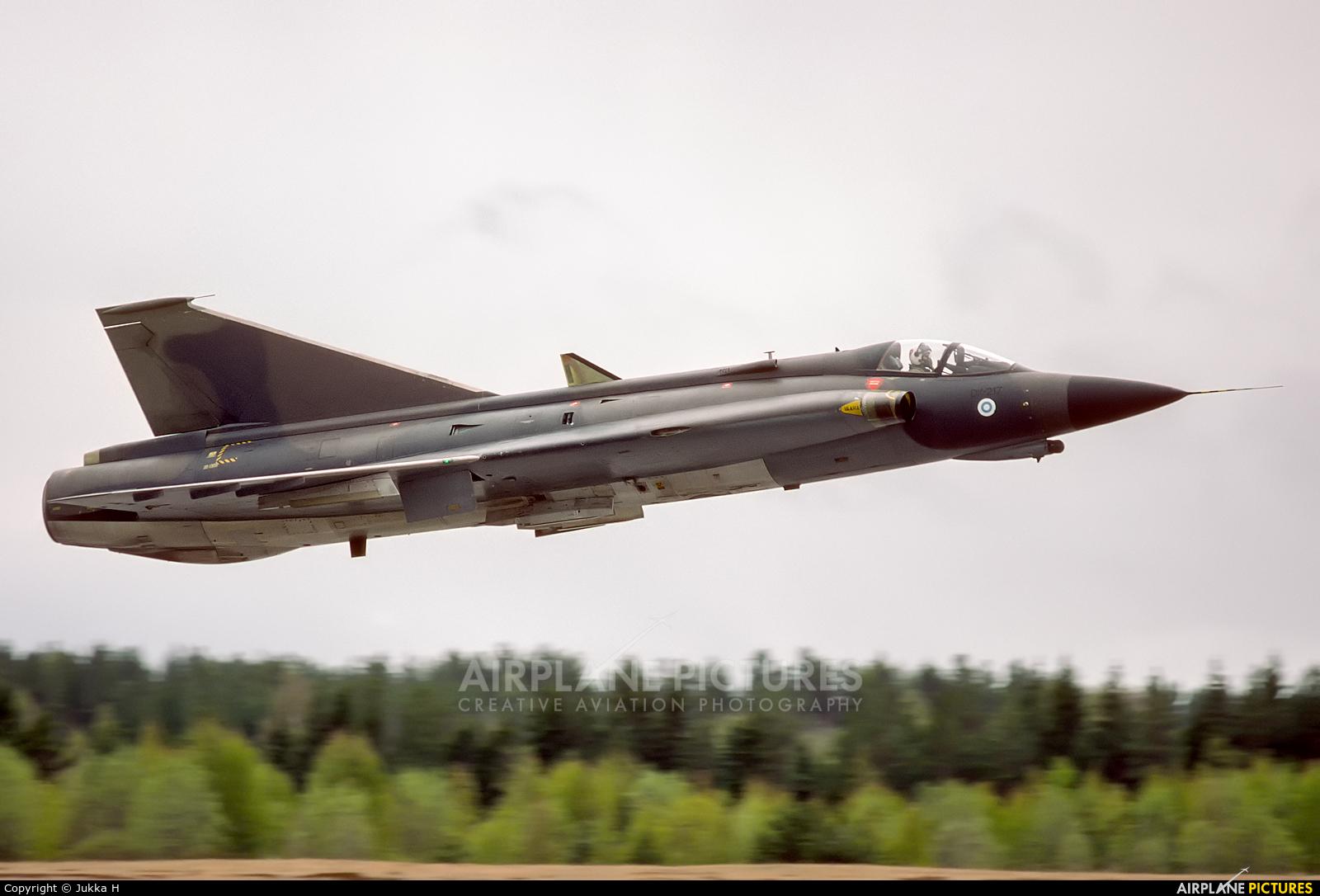 Finland - Air Force DK-217 aircraft at Jyväskylä