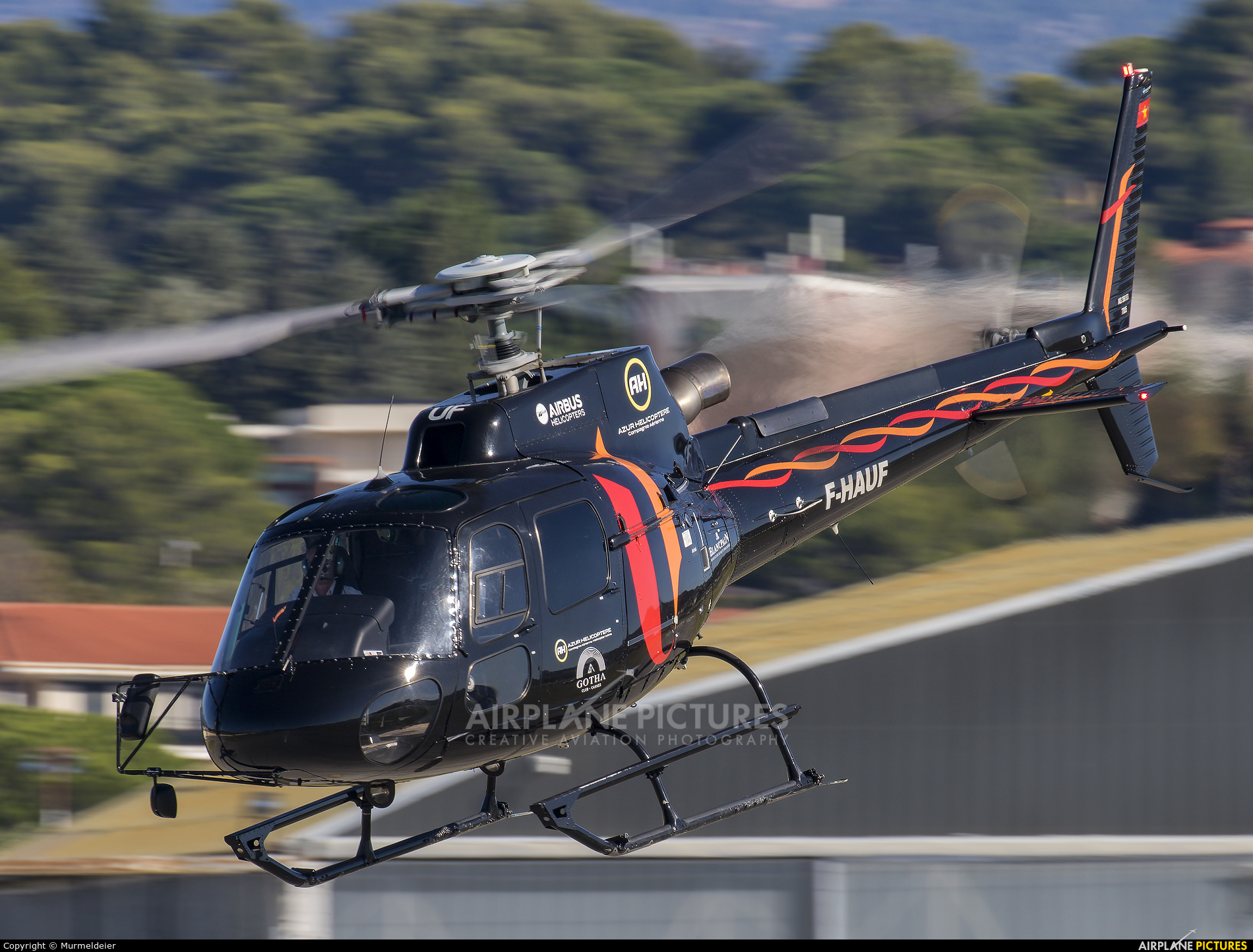 Azur Helicoptere F-HAUF aircraft at Cannes - Mandelieu