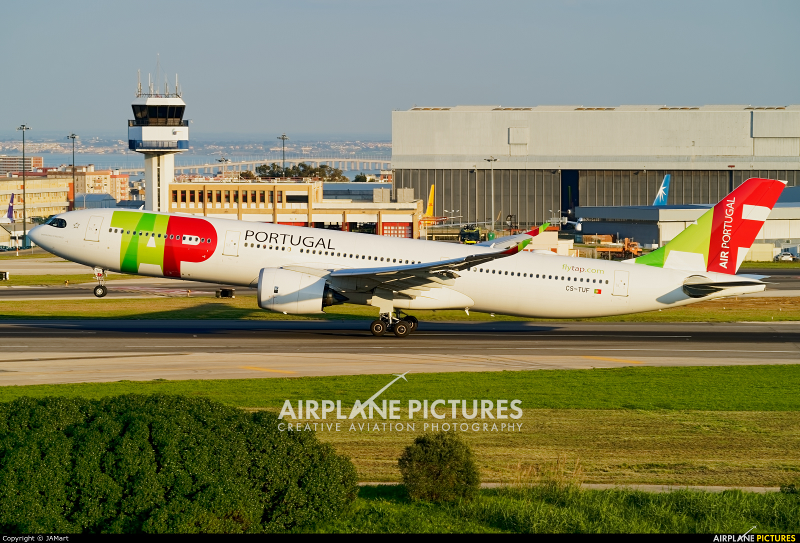 TAP Portugal CS-TUF aircraft at Lisbon