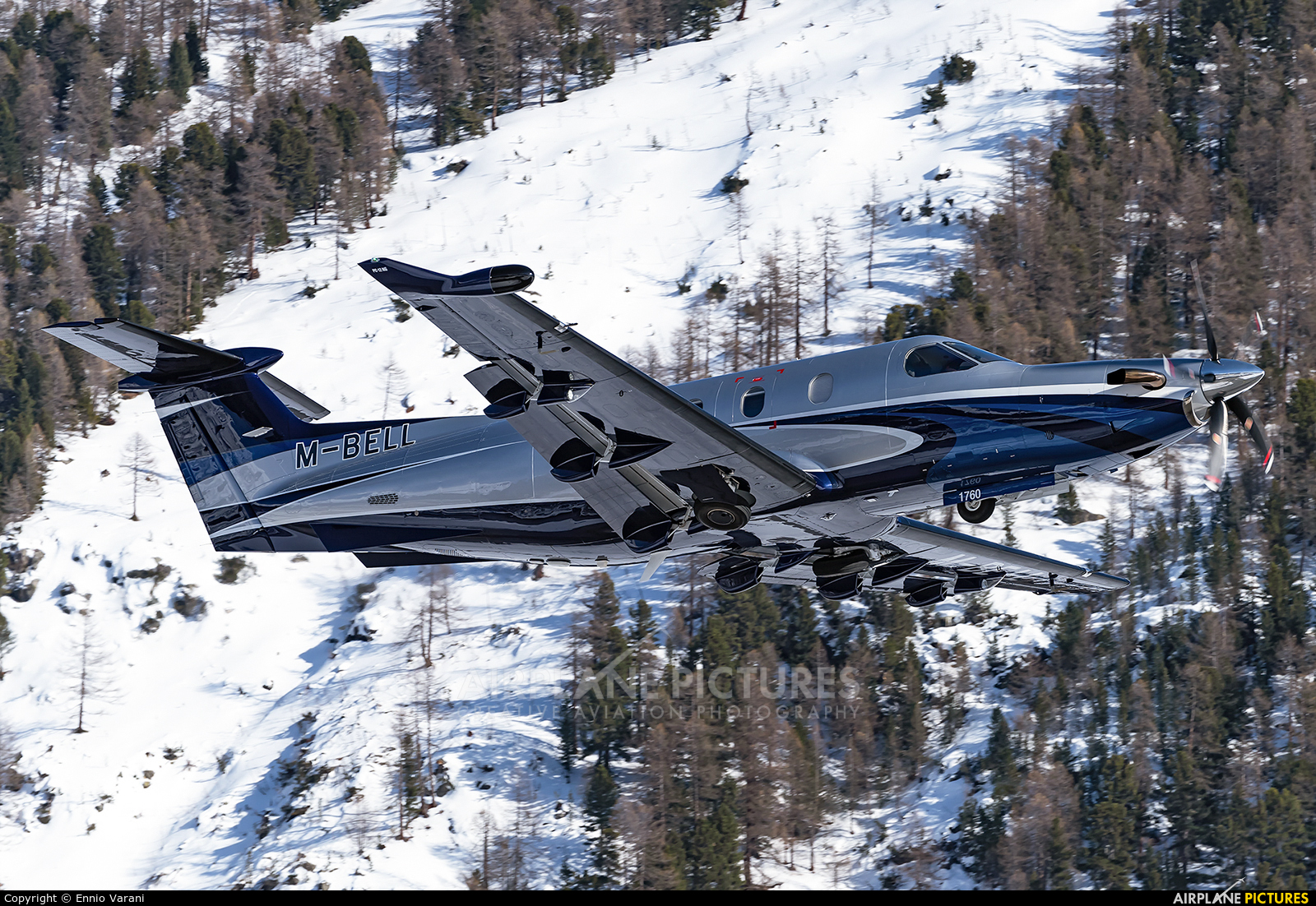 Private M-BELL aircraft at Samedan - Engadin